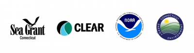 four logos - Sea Grant, CLEAR, NOAA and DEEP